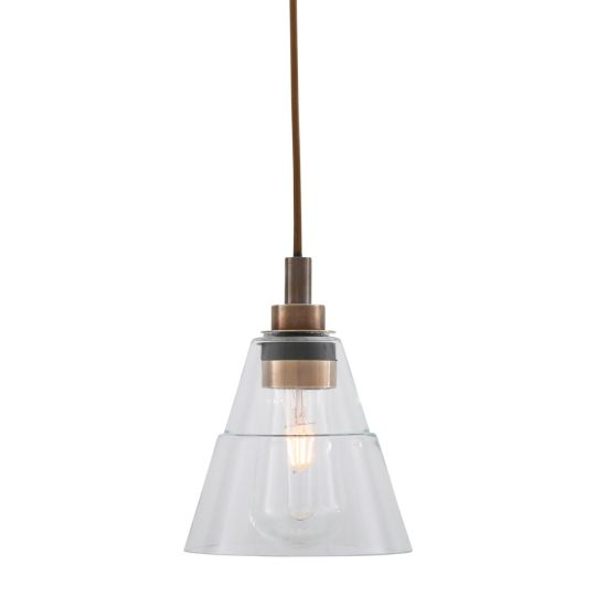 Kairi Clear Glass Bathroom Pendant Light 18cm IP65