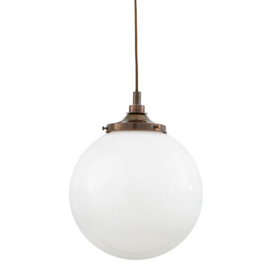 Pelagia Opal Globe Bathroom Pendant Light 35cm IP44