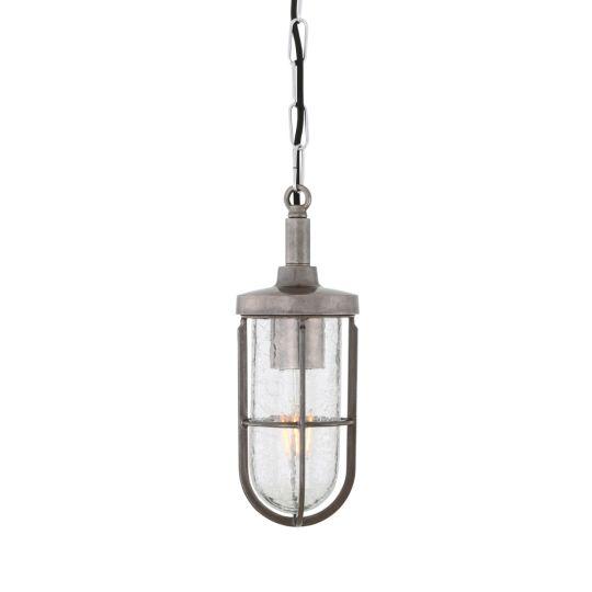 Owel A Nautical Brass Cage Pendant Light IP66