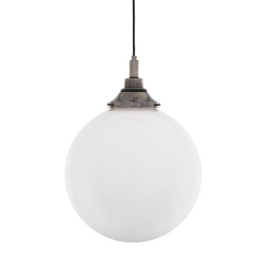 Pelagia Opal Globe Bathroom Pendant Light 30cm IP44