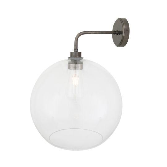 Leith Open Globe Bathroom Wall Light 25cm IP65