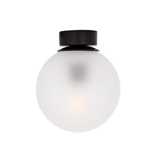 Venice Frosted Glass Globe Flush Ceiling Light 17cm