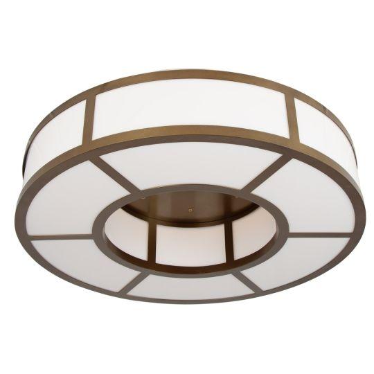 Norman Large Ring Light Flush Chandelier, Powder-Coated Bronze