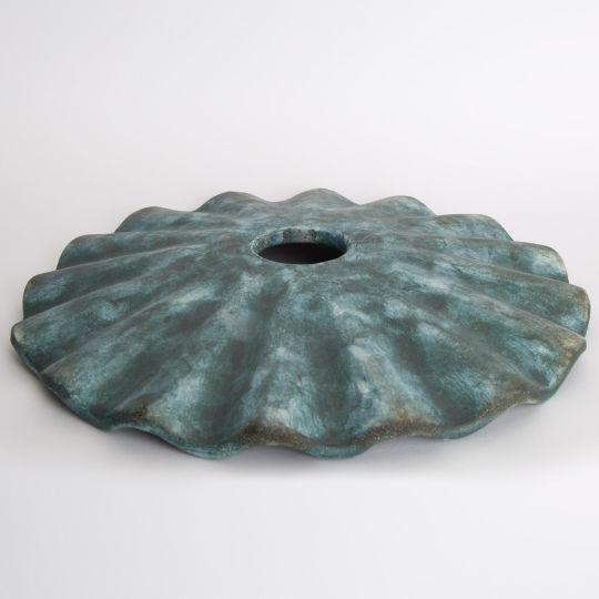 Kapok Ceramic Lamp Shade, Blue Earth 27cm