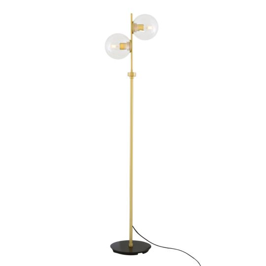Madison Glass Ball Floor Lamp with Clear Glass Shades