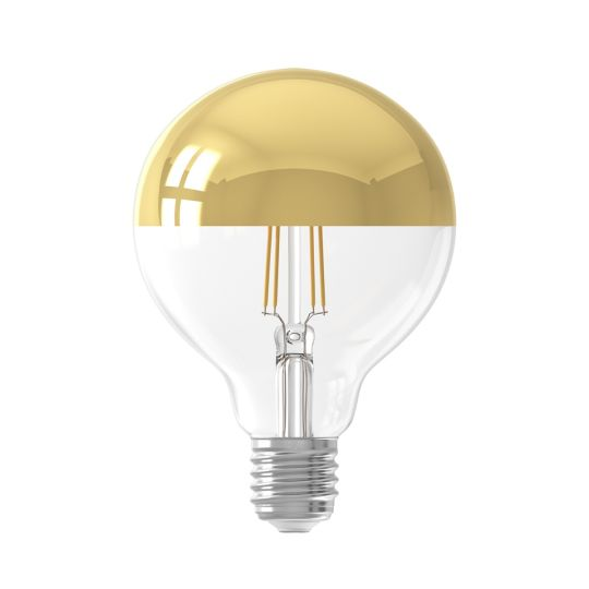 LED Filament Mirror Top Light Bulb Gold Dimmable E27 4W 9.5cm