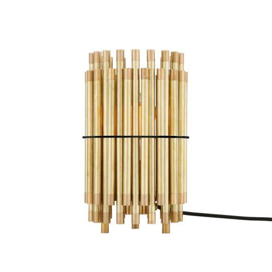 Oxford Circular Brass Sleeve Desk Table Lamp
