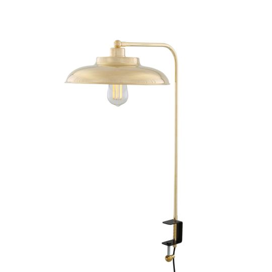 Telal Brass Table Lamp with Desk Clamp