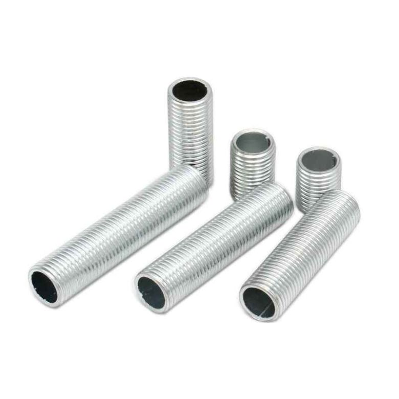 Zinc Plated All Thread Pipe Nipple M10, 10mm to 1 Metre in Length