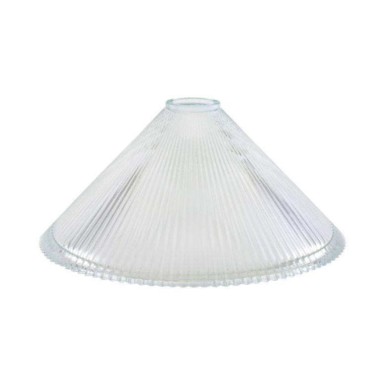 30cm Holophane chandelier glass shade
