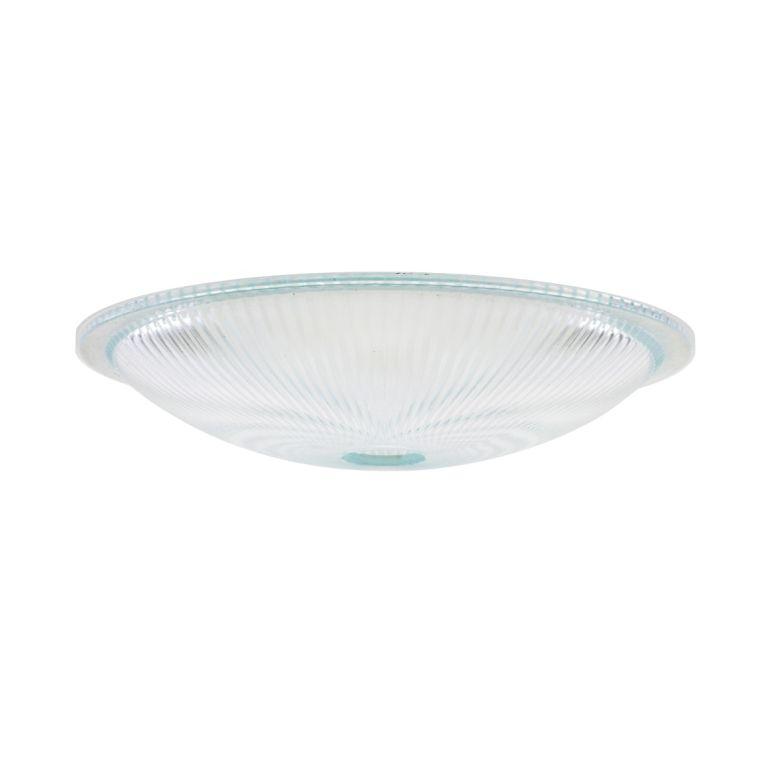 Holophane dish glass lamp shade