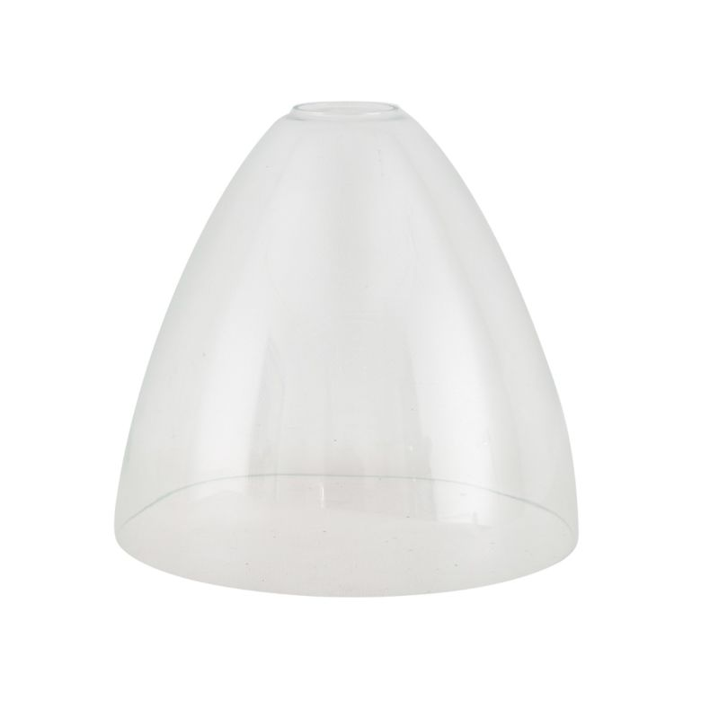 Bell clear glass lamp shade 23cm