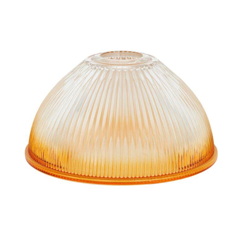 Amber rim-sprayed glass lamp shade 19cm