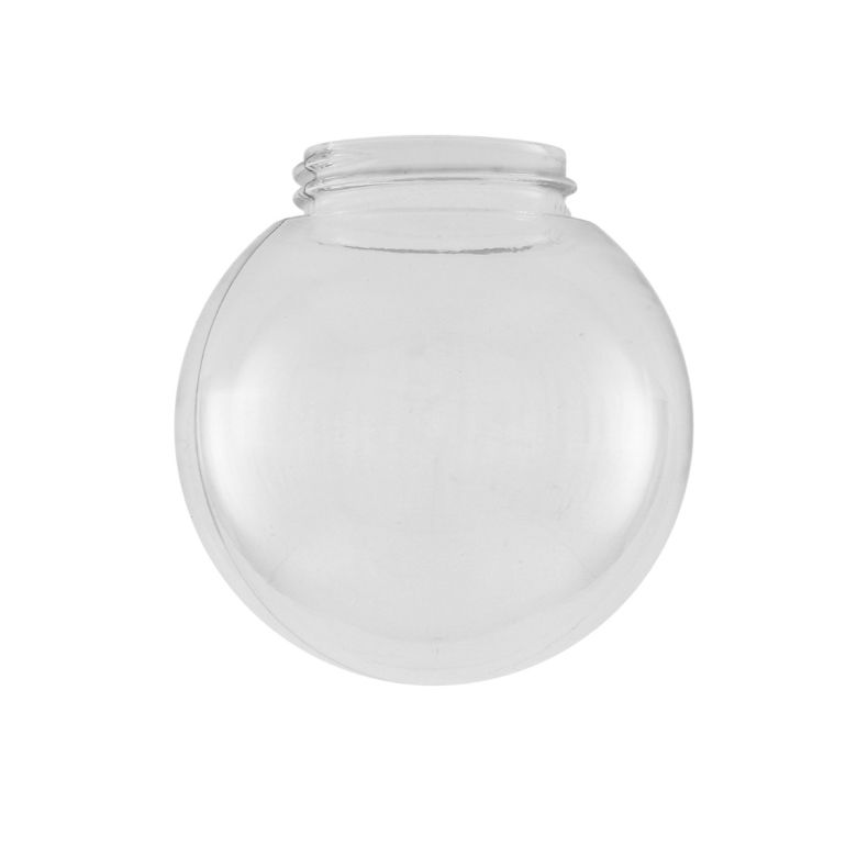 Clear threaded globe glass lamp shade 15cm
