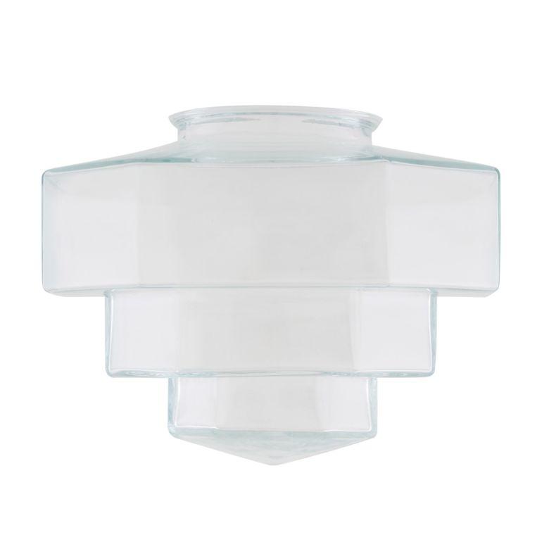 Art Deco Octagonal Stepped Glass Lamp Shade