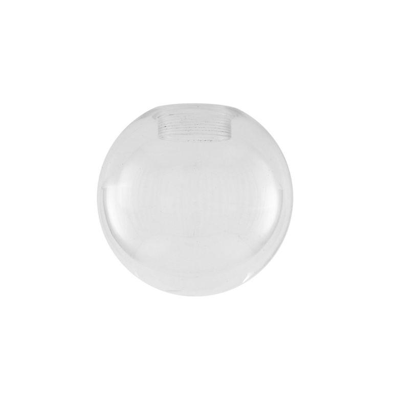 Clear Glass Globe 17cm, E27 Internal thread