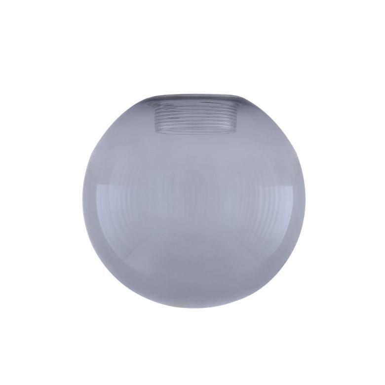 Smoked Glass Globe 17cm, E27 Internal Thread