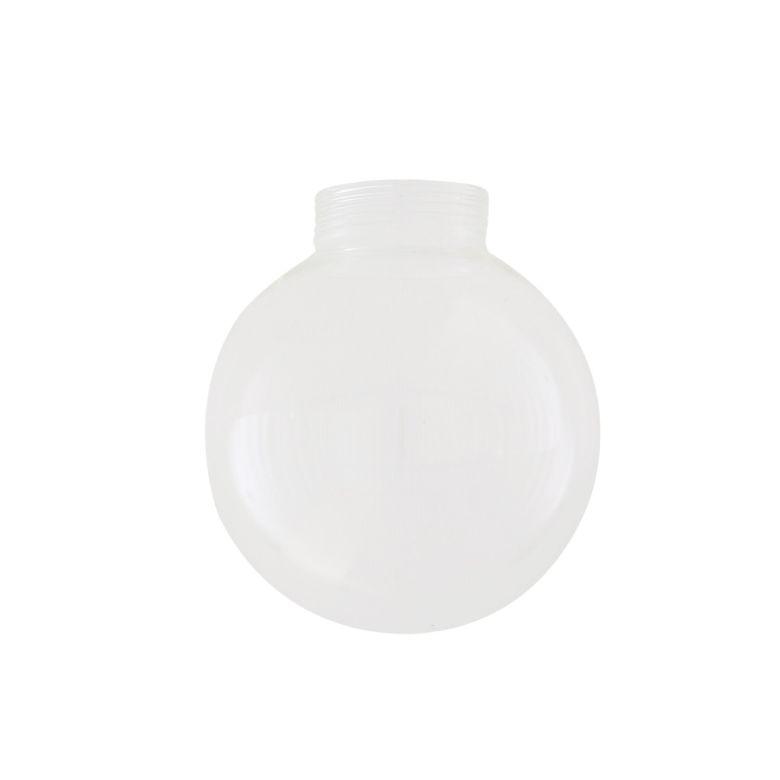Clear Threaded Glass Globe Lamp Shade 12cm