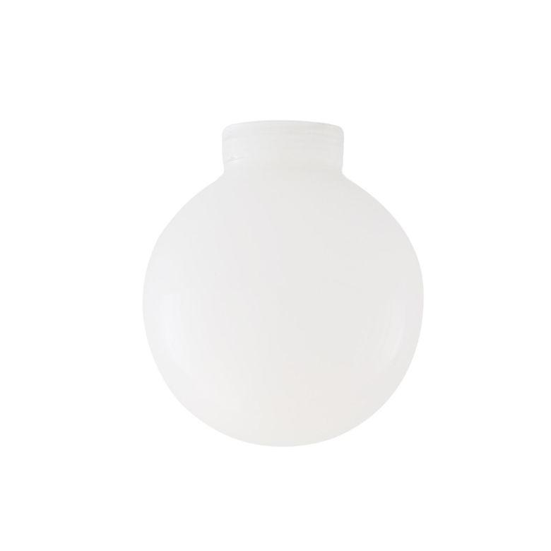 Opal Threaded Glass Globe Lamp Shade 12cm
