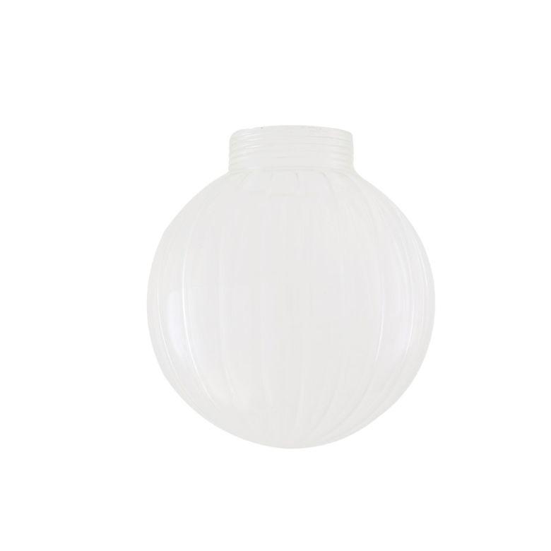 Prismatic Threaded Glass Globe Lamp Shade 12cm
