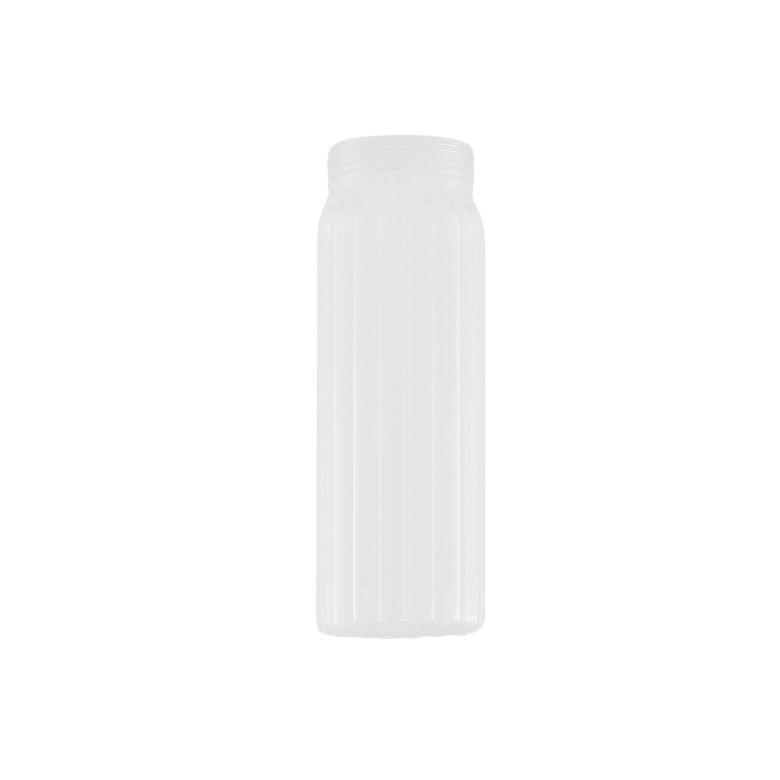 Prismatic Ribbed Tube Glass Lamp Shade 17.5cm