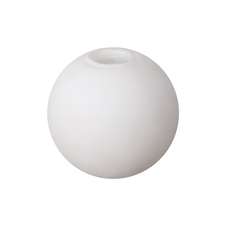Opal Glass Globe 8cm, G9 Internal Thread