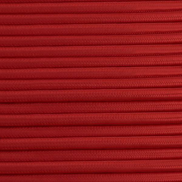 Câble rouge flexible rond et tressé à 2 brins