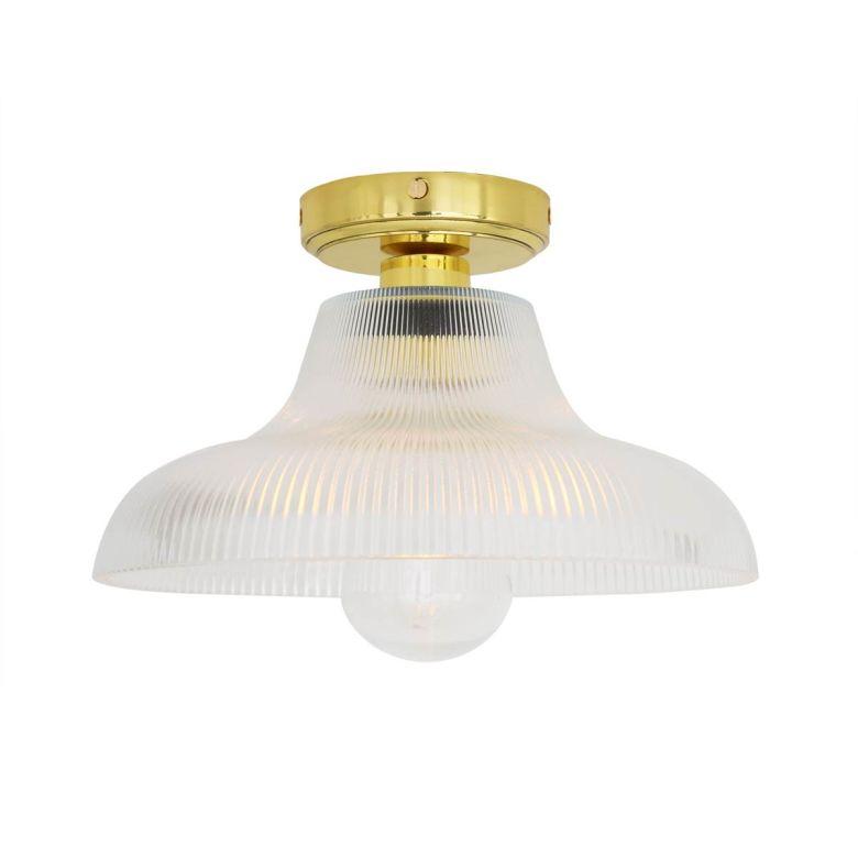 Aquarius Prismatic Bathroom Ceiling Light 20cm IP65