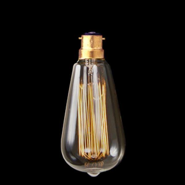 Vintage Edison Squirrel Cage Teardrop Filament Bulb B22 14cm