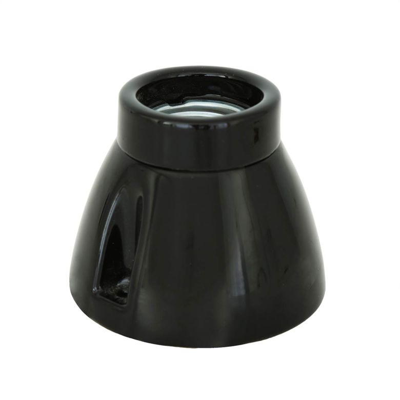 Lampe conique en porcelaine E27