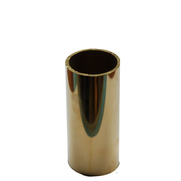 Cast brass candle tube for light fitting