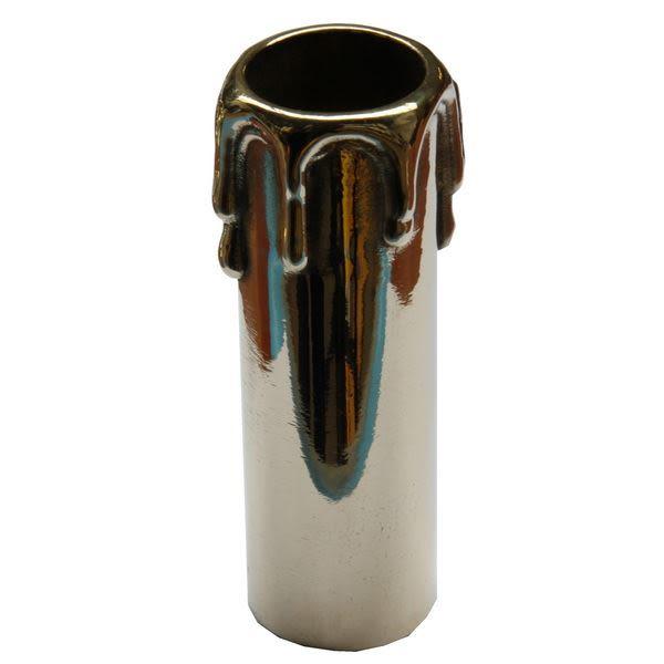 Cast brass wax drip candle tube 10cm