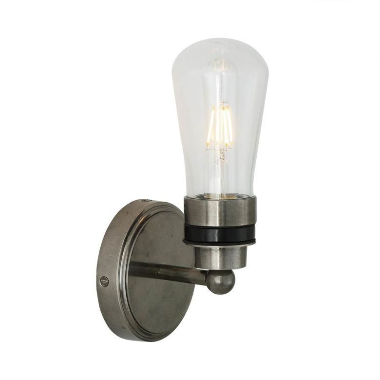 Cordelia Vintage Brass Bathroom Wall Light IP65