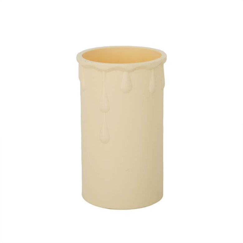 Cream Plastic Candle Wax Drip Tube for Chandeliers, 7cm