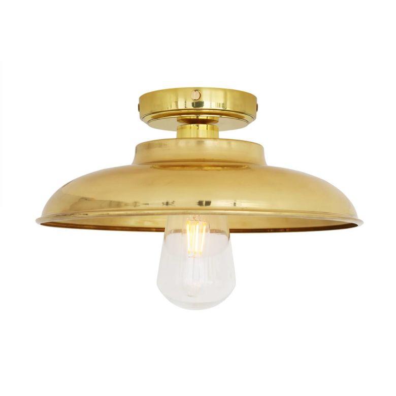 Darya Industrial Brass Ceiling Light 30cm IP65