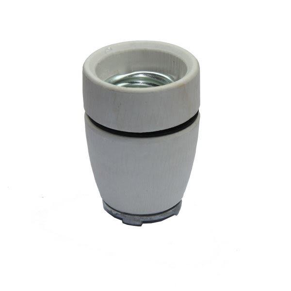 Support de lampe E27 en céramique ou porcelaine