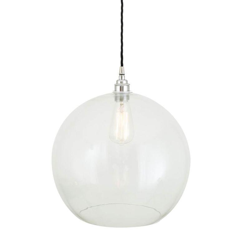Eden Large Clear Open Globe Pendant Light 35cm