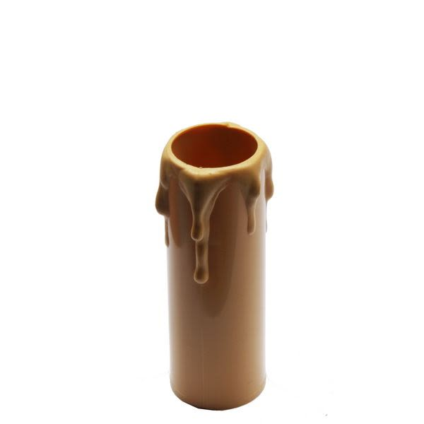 Gold wax drip plastic candle tube 7cm