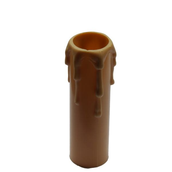Gold wax drip plastic candle tube 8.5cm