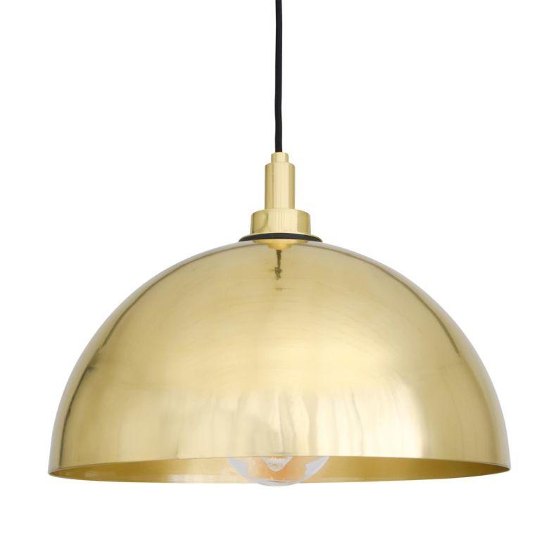 Hydra Brass Dome Bathroom Pendant Light 30cm IP65