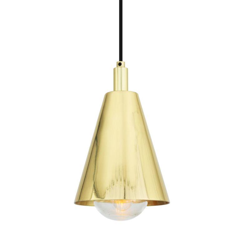 India Modern Brass Bathroom Pendant Light 14cm IP65