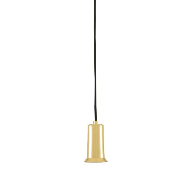 Jasper Small Minimalist Brass Pendant Light, Polished Brass