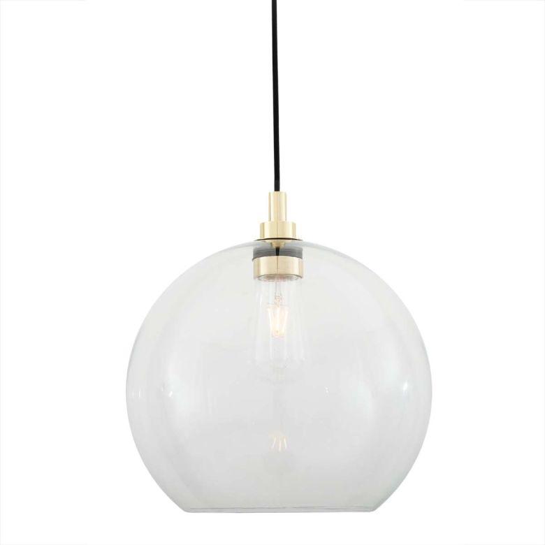 Leith Clear Open Globe Pendant Light 35cm IP65