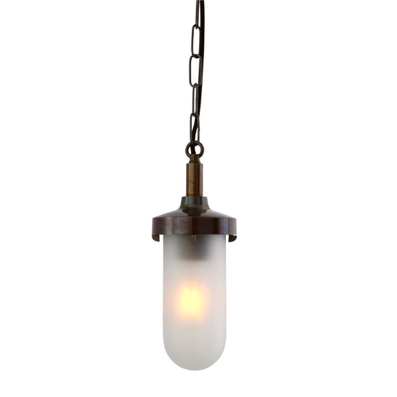 Owel B Marine Brass / Glass Pendant Light IP65