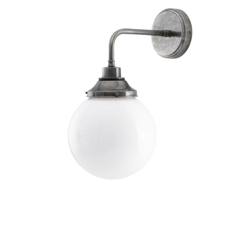 Pelagia Opal Globe Bathroom Wall Light 20cm IP44
