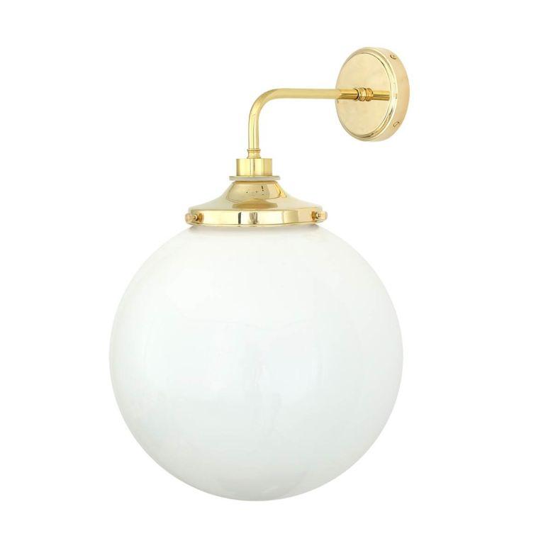 Pelagia Opal Globe Bathroom Wall Light 35cm IP44