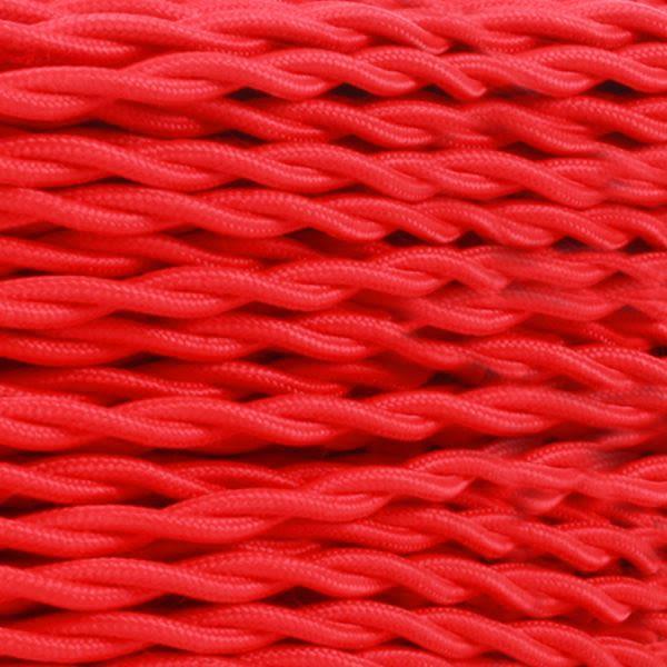 Câble rouge flexible tressé torsadé à 2 brins