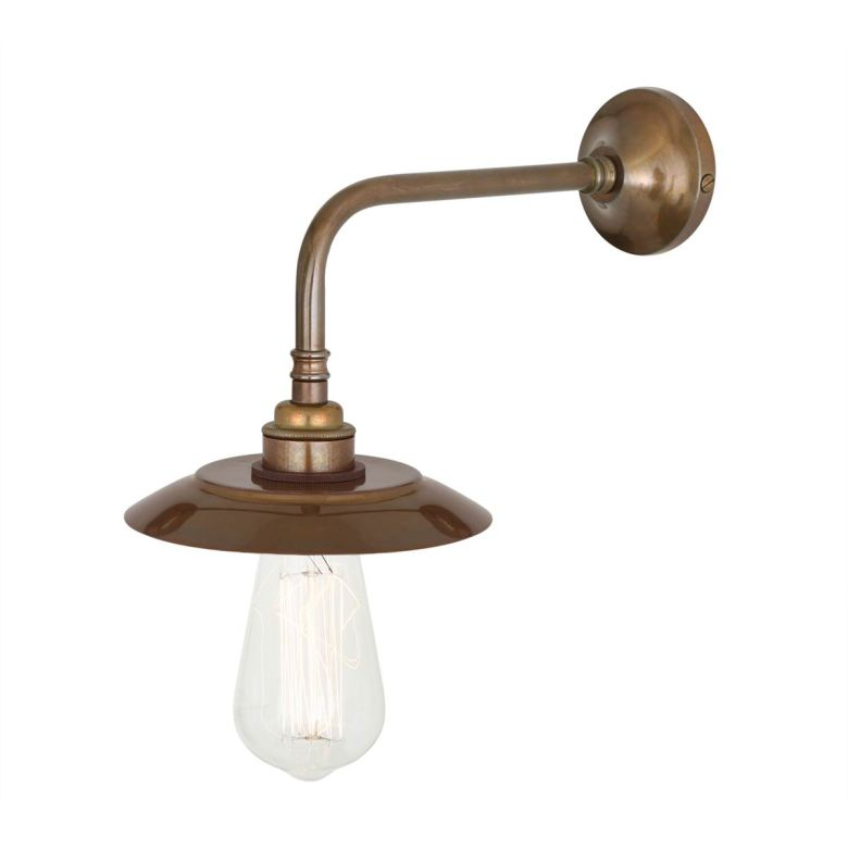 Reznor Vintage Wall Light with Brass Shade, Antique Brass