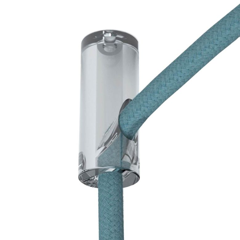 Transparent Decentralizer Ceiling Hook for Fabric Cable