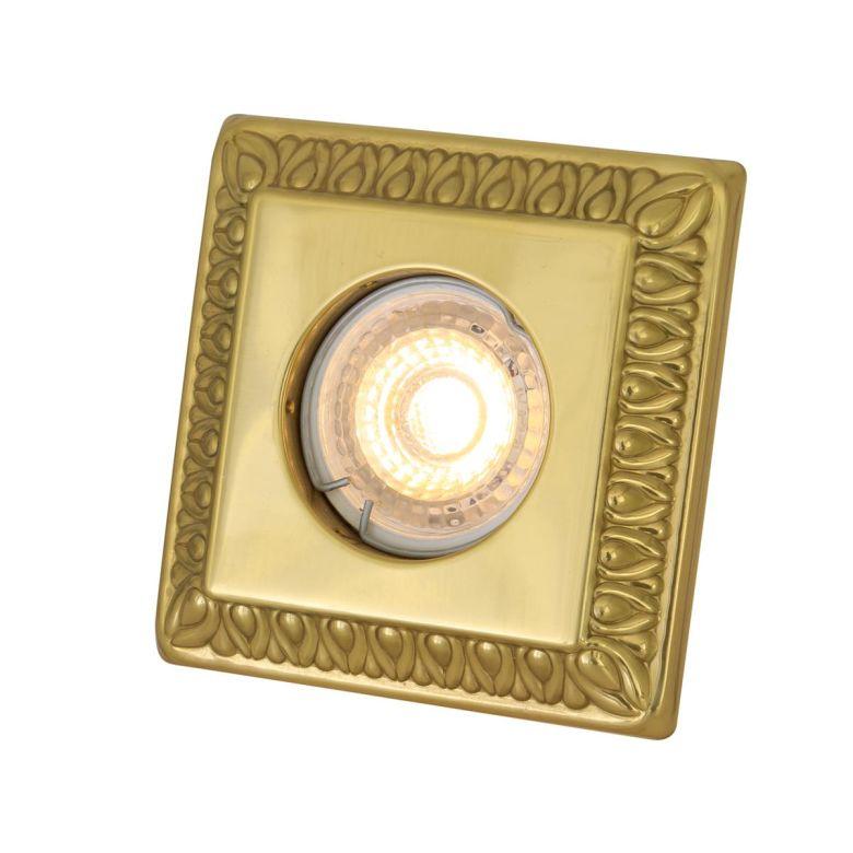Vaduz Square Brass Recessed Spotlight 10cm
